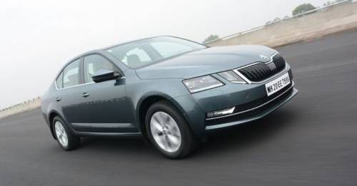 New 2017 Skoda Octavia Front Three Quarter Action