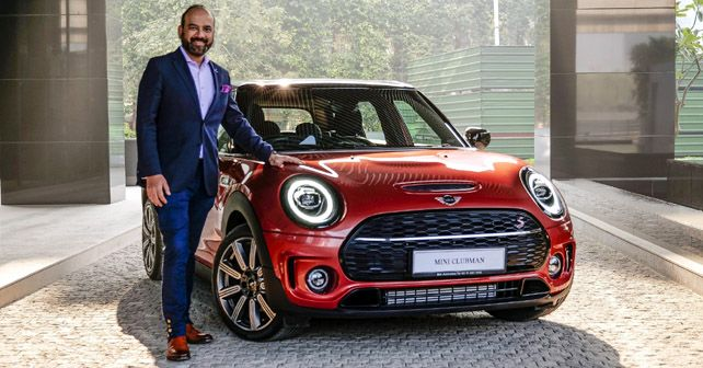 Mr Rudratej Singh With The New MINI Clubman Indian Summer Red Edition