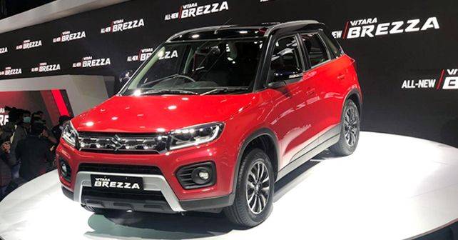 2020 Maruti Suzuki Vitara Brezza Petrol Facelift Revealed at Auto Expo 2020