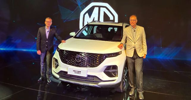 MG Hector Plus Showcased At The Auto Expo 2020
