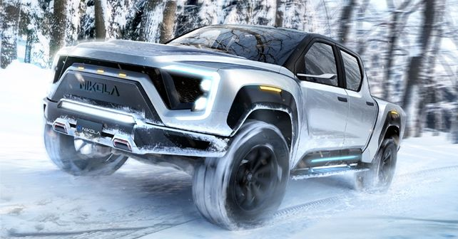 Nikola Badger Driving in Snow