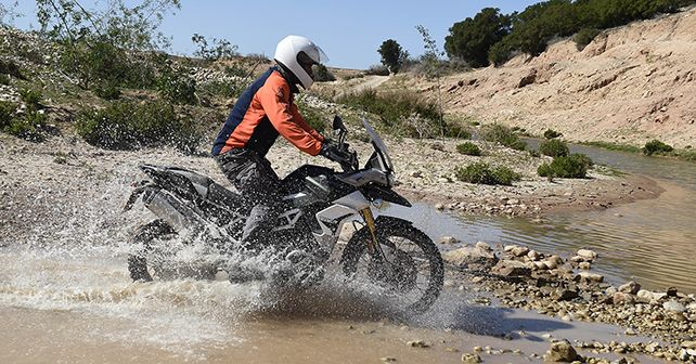 Triumph Tiger 900 Rally Pro In Action Water Crossing