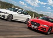 BMW 330i vs Jaguar XE P250 - Photos