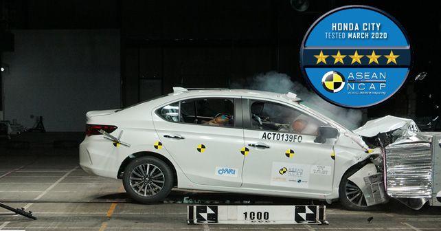 2020 Honda City Thai Spec Asean Ncap 5 Stars Crash Test