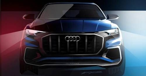 Audi Q8 Concept Sketch Front
