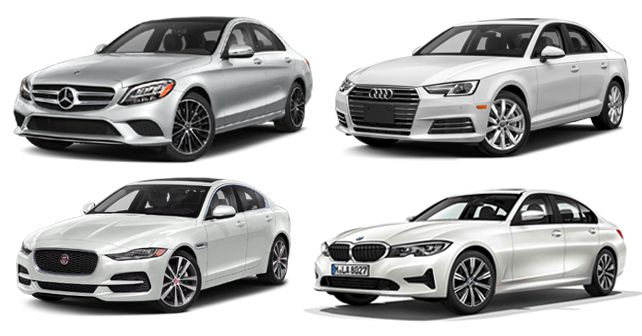 BMW 3 Series Vs Mercedes Benz C Class Vs Audi A4 Vs Jaguar XE Price Comparison