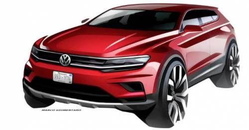 VW Tiguan Allspace Design Sketch M