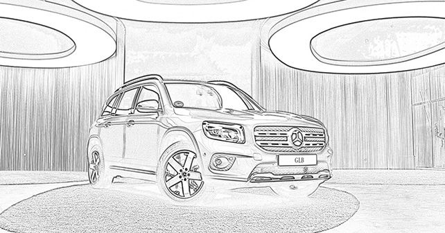Mercedes Benz Colouring Book GLB Coronavirus