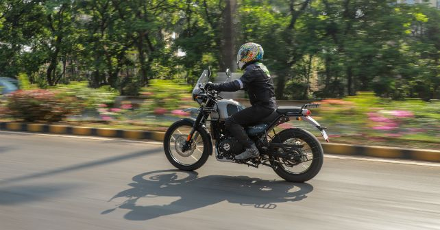 Royalenfield Himalayan Side Action