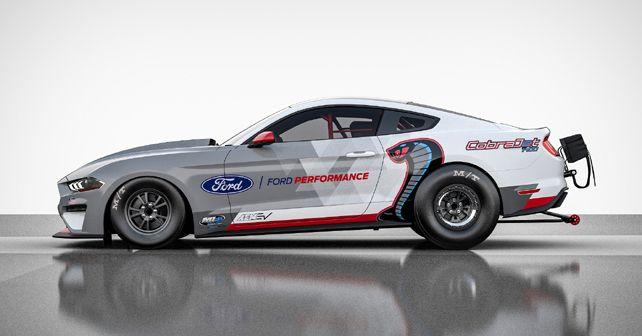 Ford Performance Mustang Cobra Jet 1400 EV Dragster Side Profile