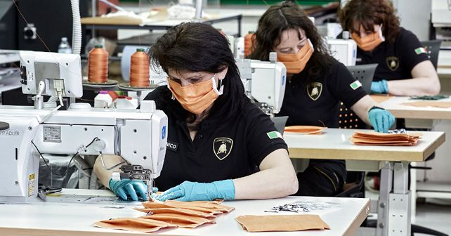 Lamborghini Surgical Mask Production In Italy