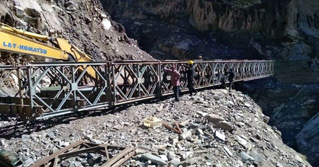 BRO Kailash Mansarovar Link Road During Construction