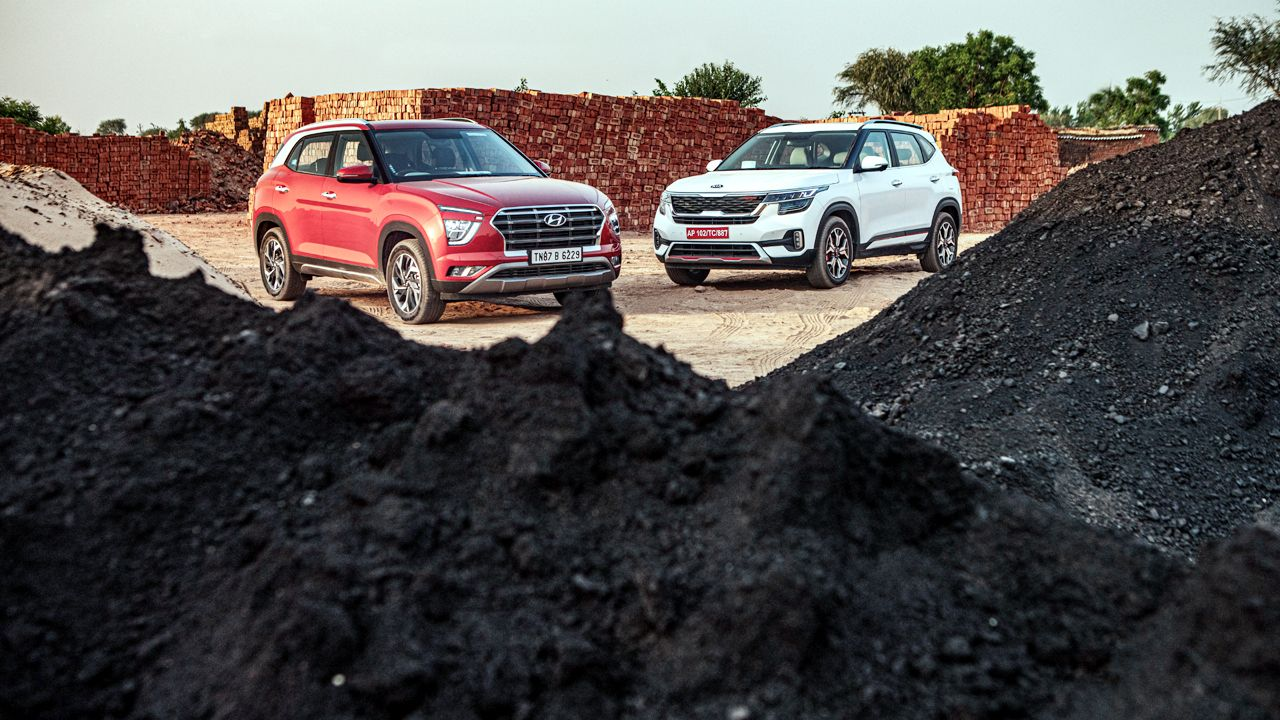 Hyundai Creta and Kia Seltos Front Profile