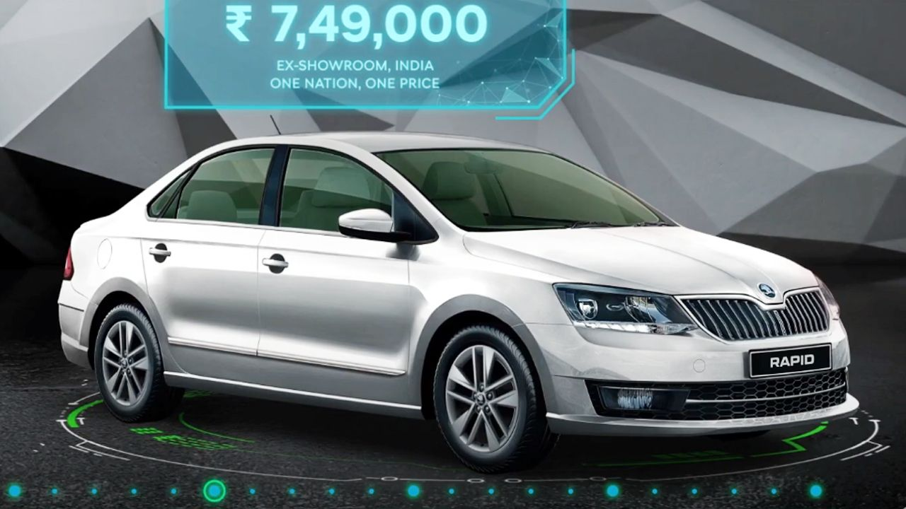 Skoda Rapid 1 0 TSI Launched At Rs 7 49 Lakh