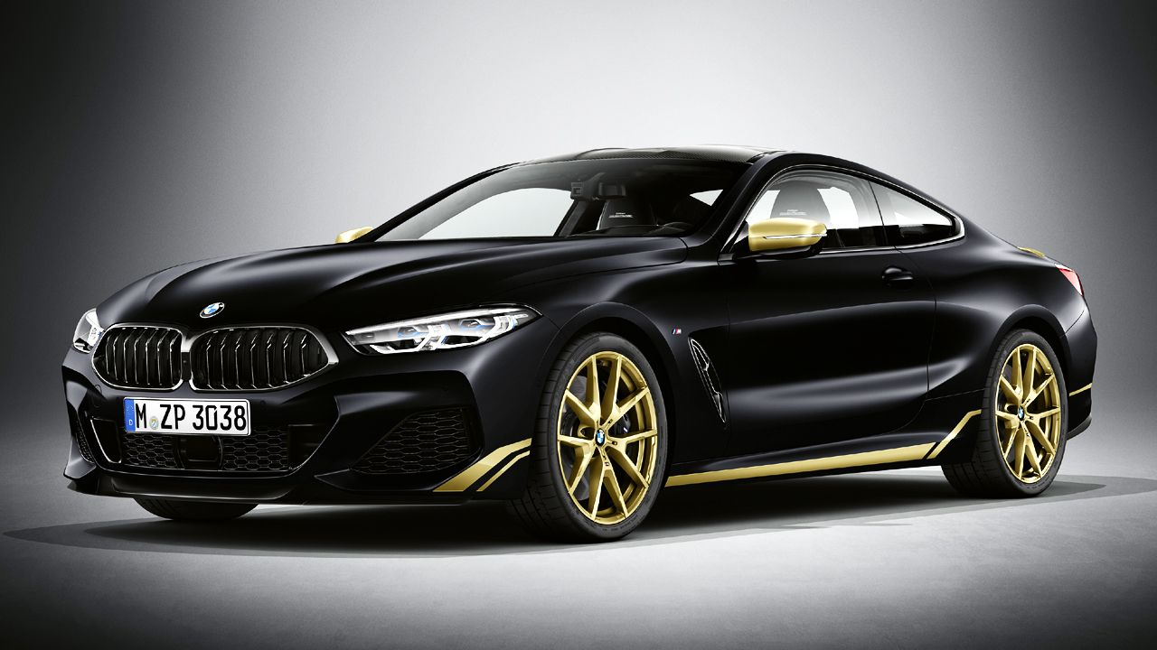BMW 8 Series Golden Thunder Edition Front Quarter Static