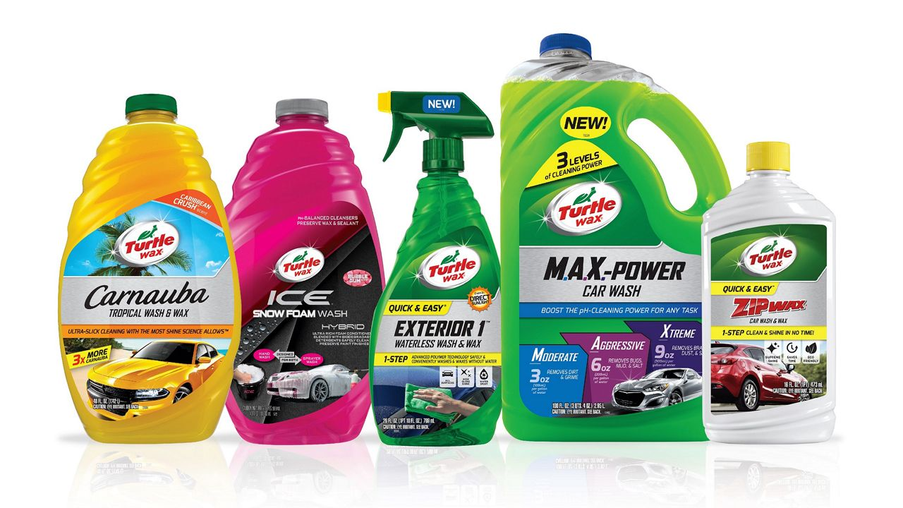 Range of Turtle Wax Car Care products