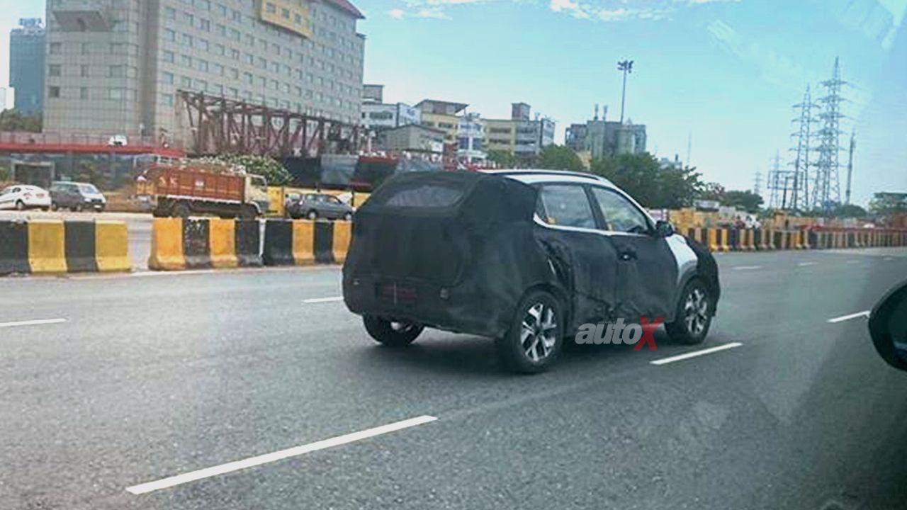 Kia Sonet SUV Spy Shot