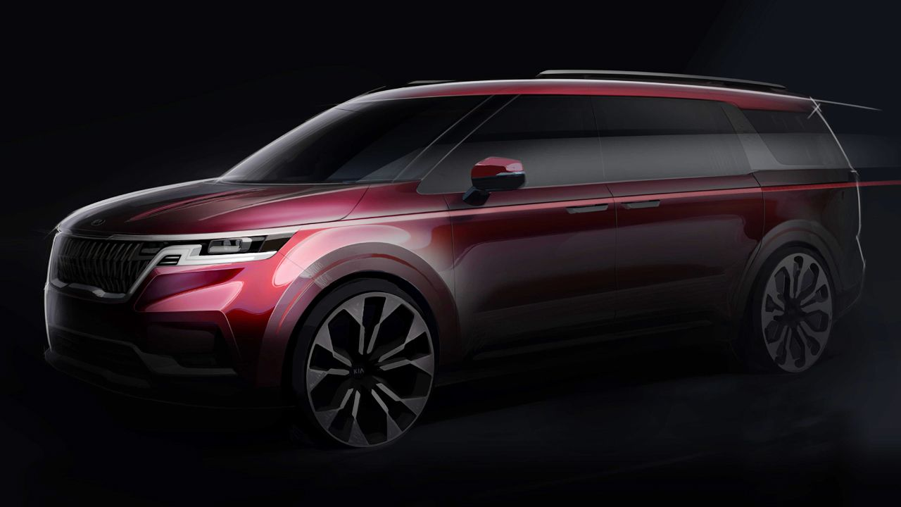New Fourth Gen Kia Carnival Teaser