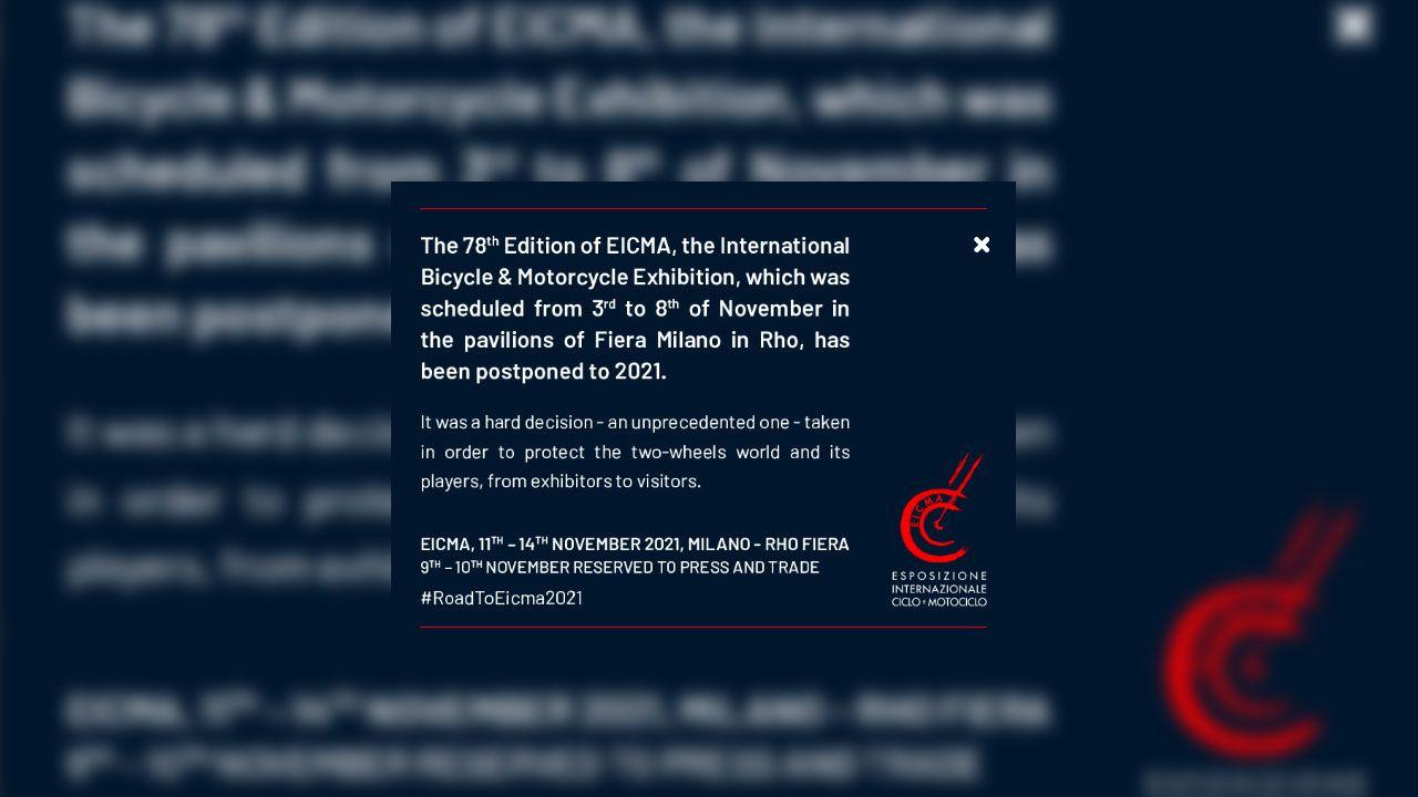 Eicma 2020 Cancelled