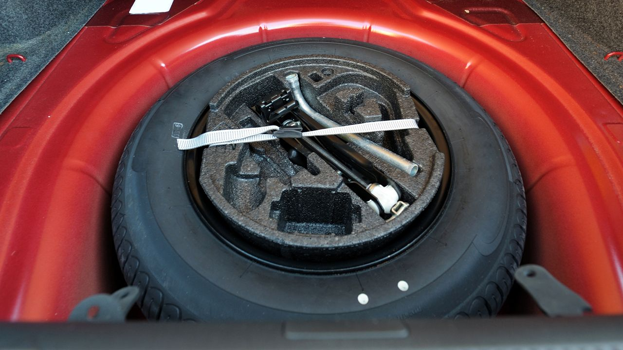 Spare Wheel In Boot