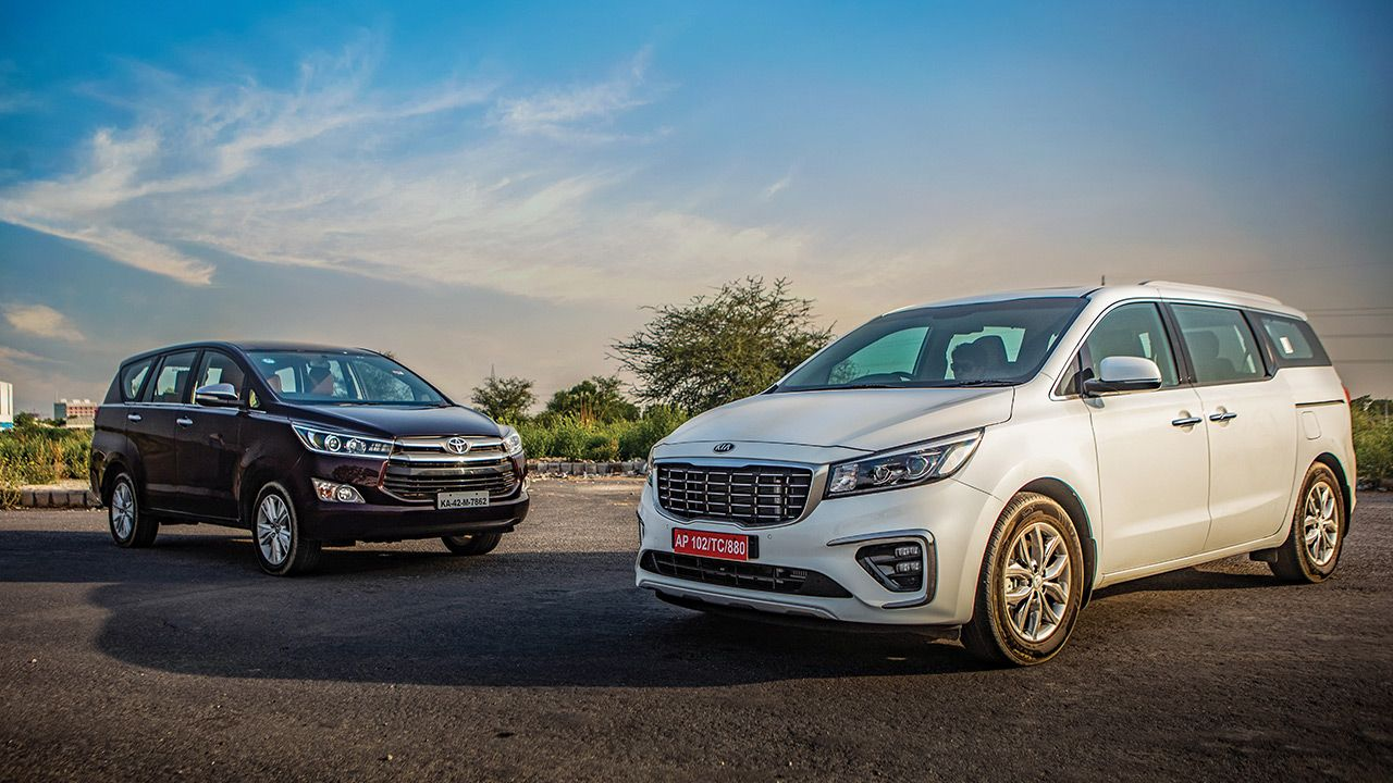 Toyota Innova and Kia Carnival Front Quarter View1