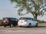 Toyota Innova and Kia Carnival Rear Quarter View1