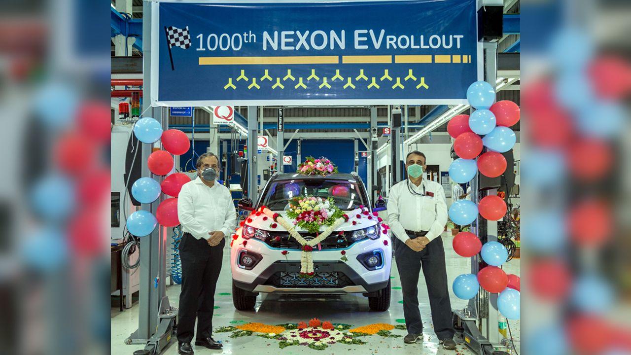 1 000th Tata Nexon EV Rolls Off The Production Line