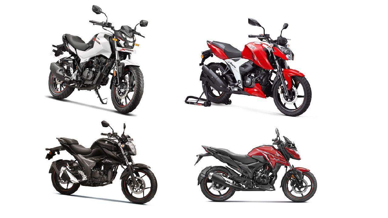 Hero Xtreme 160R Vs TVS Apache RTR 1604V Vs Suzuki Gixxer Vs Honda X Blade