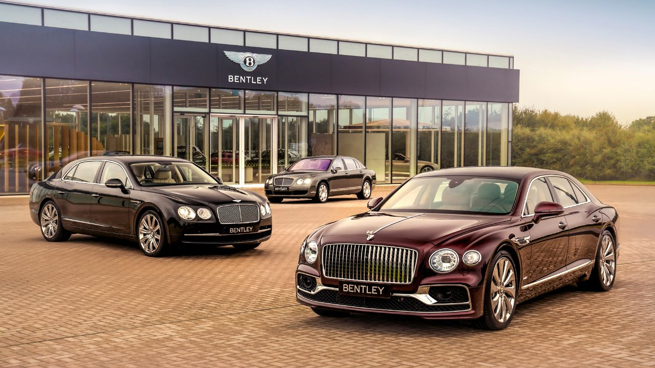 Three Generations Of The Bentley Flying Spur