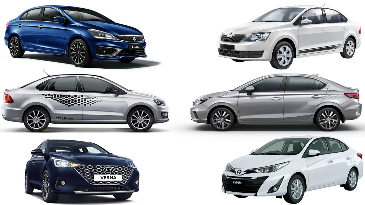 Honda City Vs Hyundai Verna Vs Vw Vento Vs Skoda Rapid Vs Toyota Yaris Vs Maruti Ciaz Spec Comparo