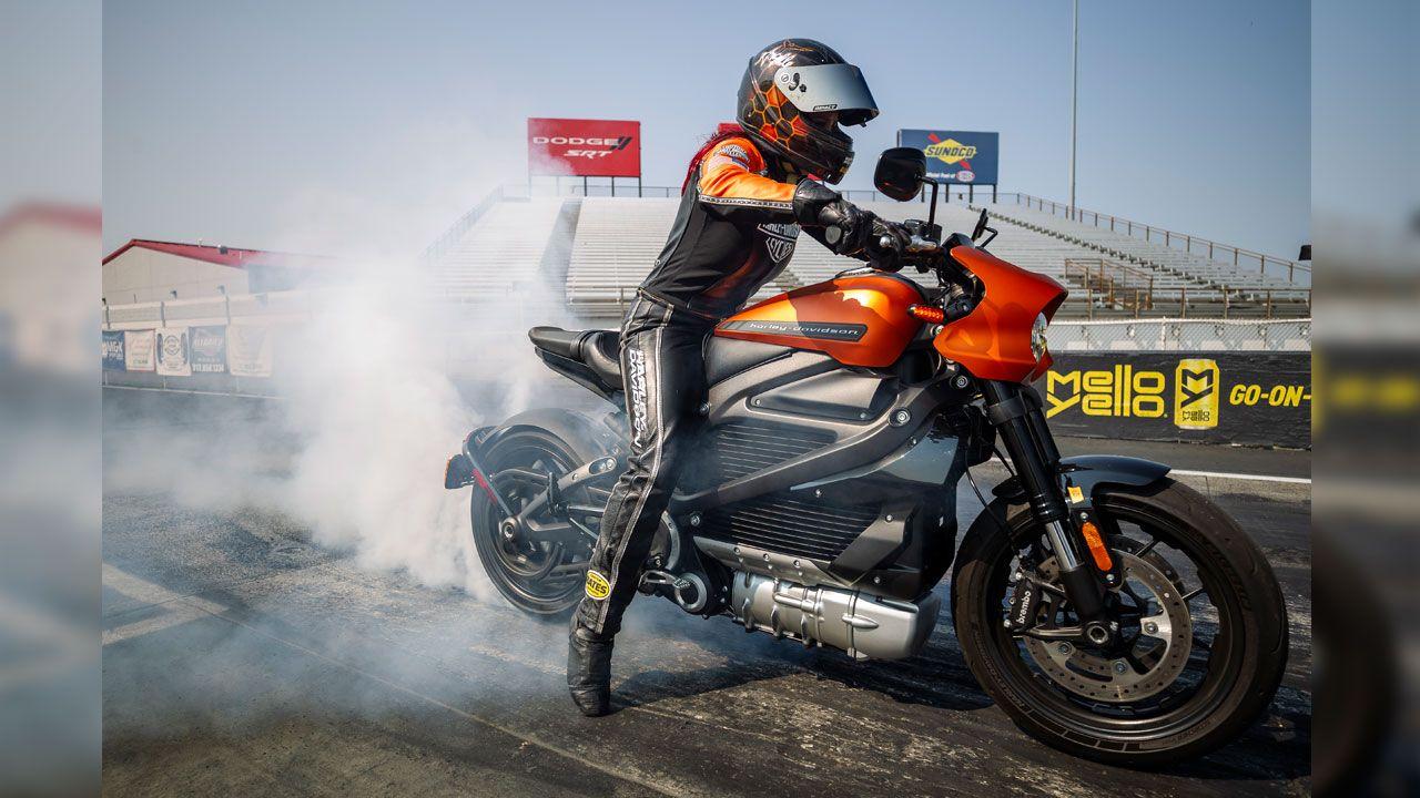 Harley Davidson Livewire Drag Racing Record