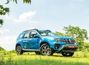 renault duster turbo petrol front three quarter