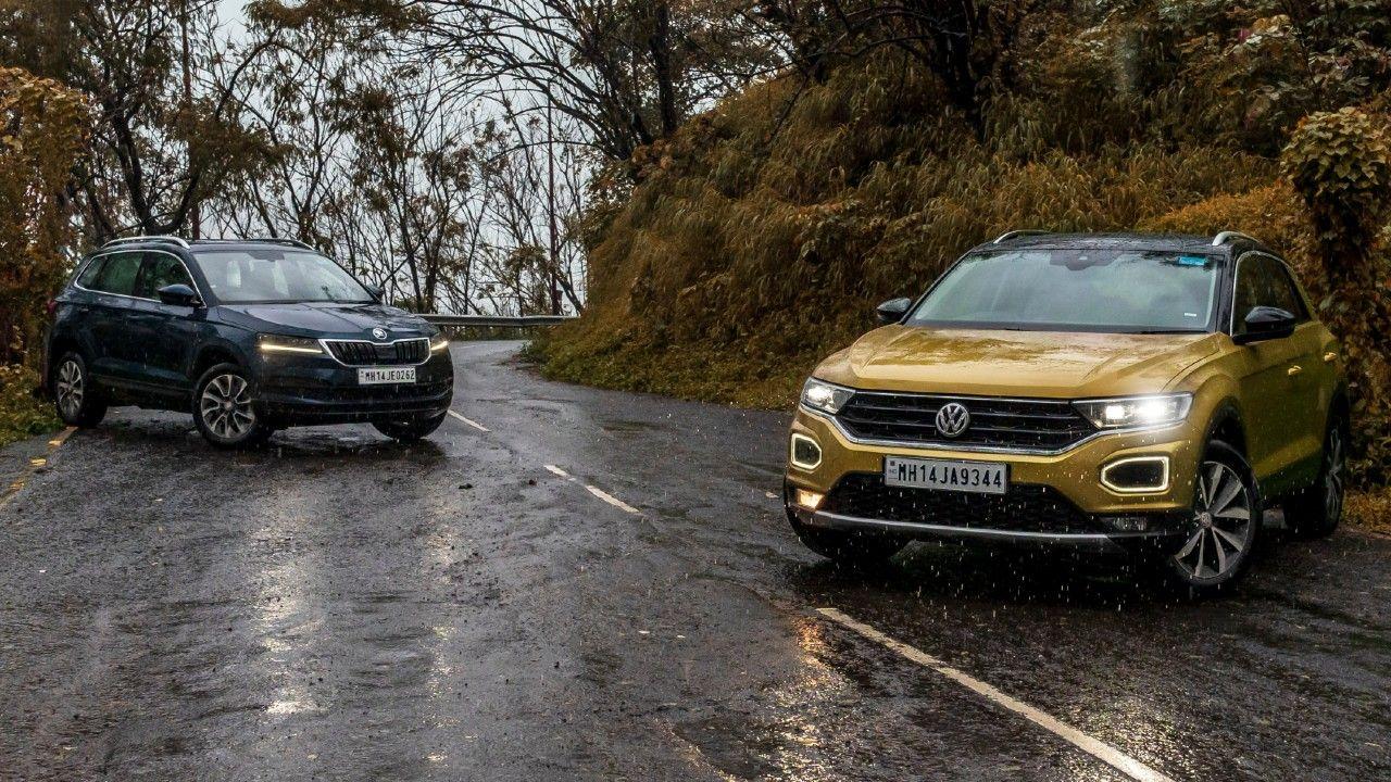 Volkswagen T Roc Vs Skoda Karoq Comparison Images