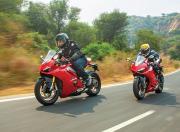 Ducati Panigale V2 vs Panigale V4 road test