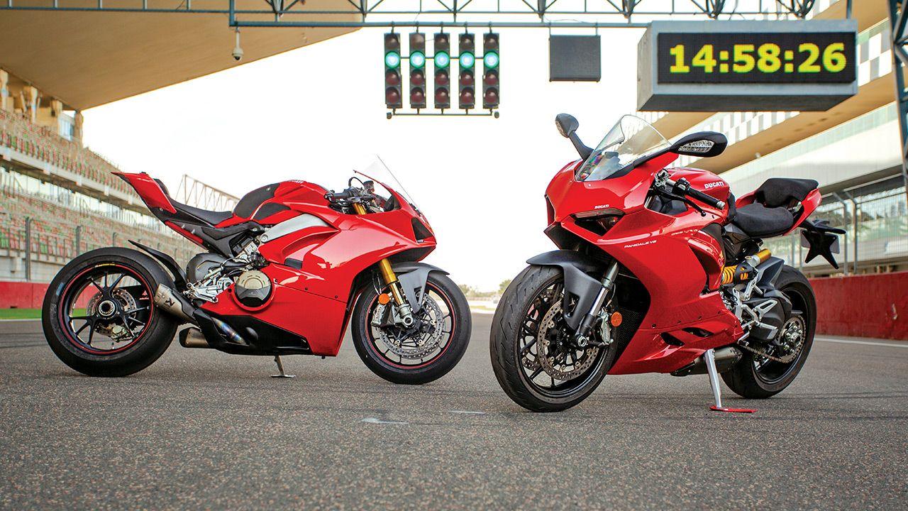 Ducati Panigale V2 vs Panigale v4s jpg
