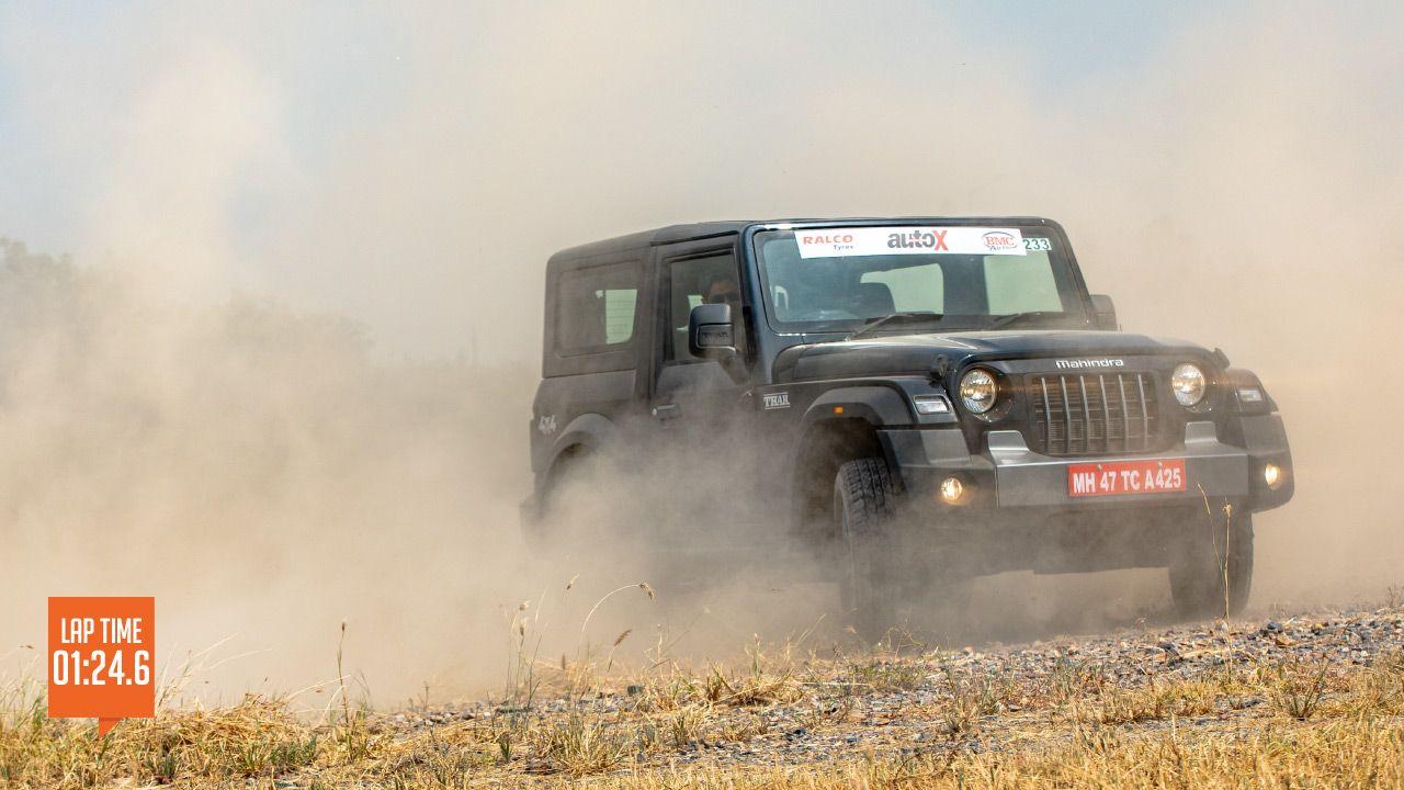 Mahindra Thar Track Test