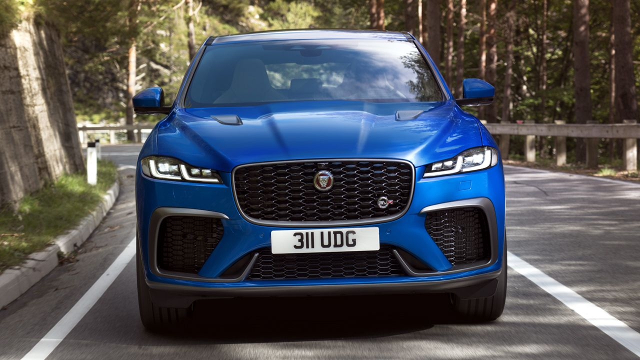 2021 jaguar f-pace svr debuts with improved top speed and