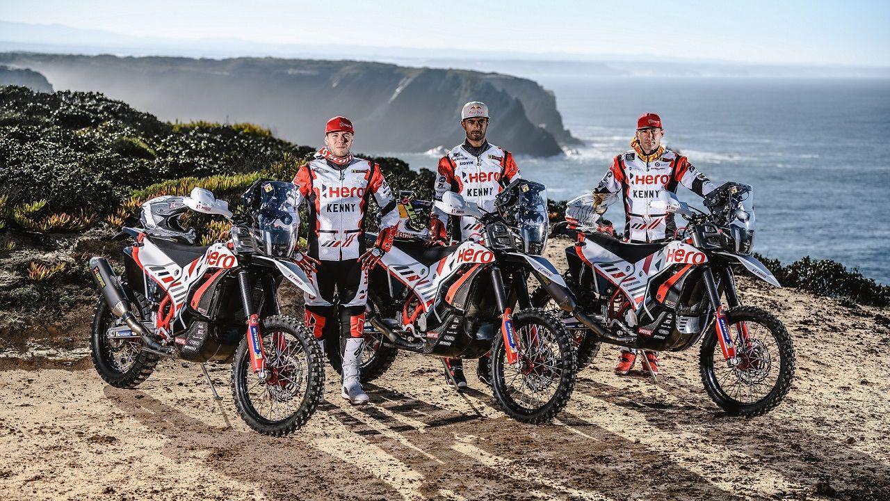 Hero MotoSports Team Rally Riders Sebastian Buhler CS Santosh And Joaquim Rodrigues