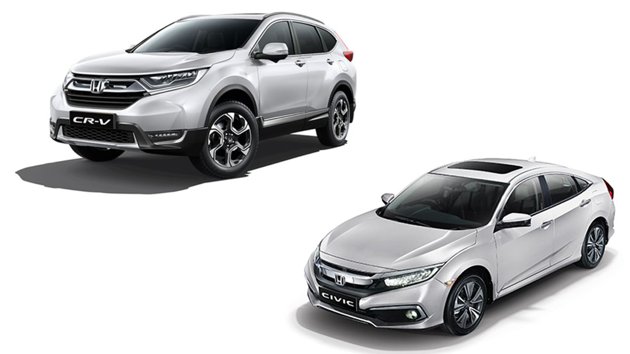 Honda CR V And Civic