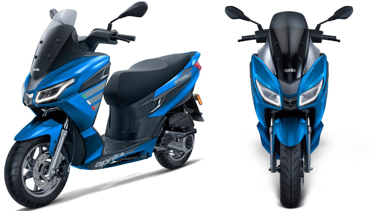 Aprilia Sxr 160 Maxi Scooter Blue Bookings Commenced