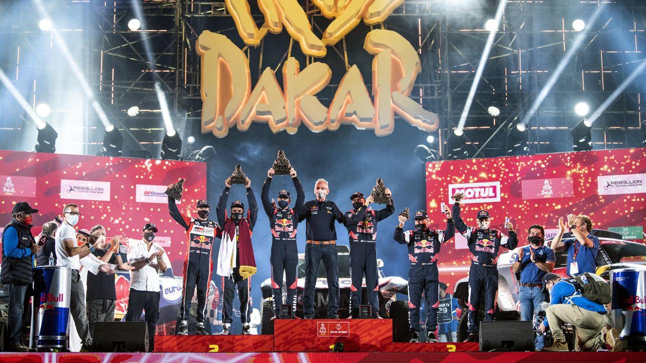 Dakar 2021 Car Category Overall Podium