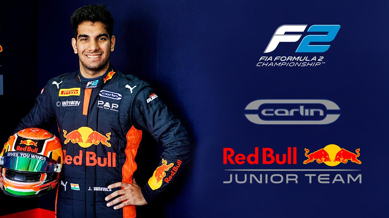Jehan Daruvala FIA F2 Red Bull Junior