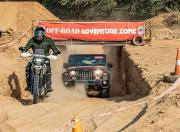 Mahindra Thar Petrol AT and Hero Xpulse 200 offroad climb