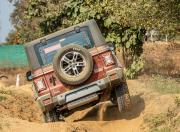 Mahindra Thar Petrol AT offroad back view