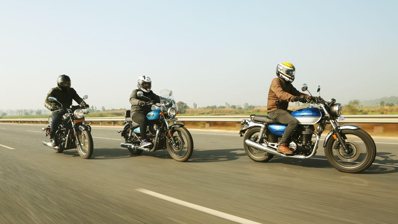 Royal Enfield Meteor 350 Vs Honda CB 350 Vs Benelli Imperiale 400