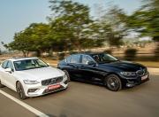 BMW 3 Series Gran Limousine vs 2021 Volvo S60 Front Quarter Motion
