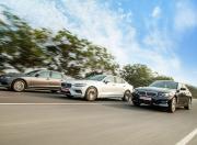 BMW 3 Series Gran Limousine vs Audi A4 vs 2021 Volvo S60 Front Quarter Motion