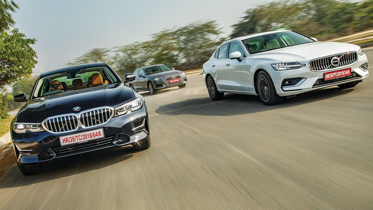 BMW 3 Series Gran Limousine vs Audi A4 vs Volvo S60 Front Motion