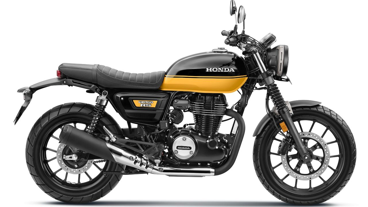 Honda CB350 RS Black With Pearl Sports Yellow