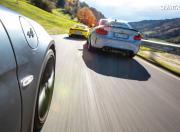 Porsche 718 Cayman GT4 vs Alpine A 110 S vs BMW M2 CS Rear View Motion